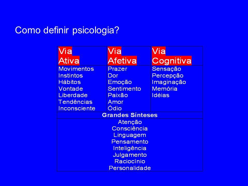 Uma certeza O campo da psicologia é grande e disperso.