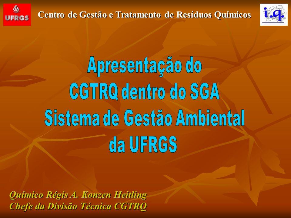 Centro de Gestão e Tratamento de Resíduos Químicos S G A Biológico Reciclável Não Reciclável Lâmp.