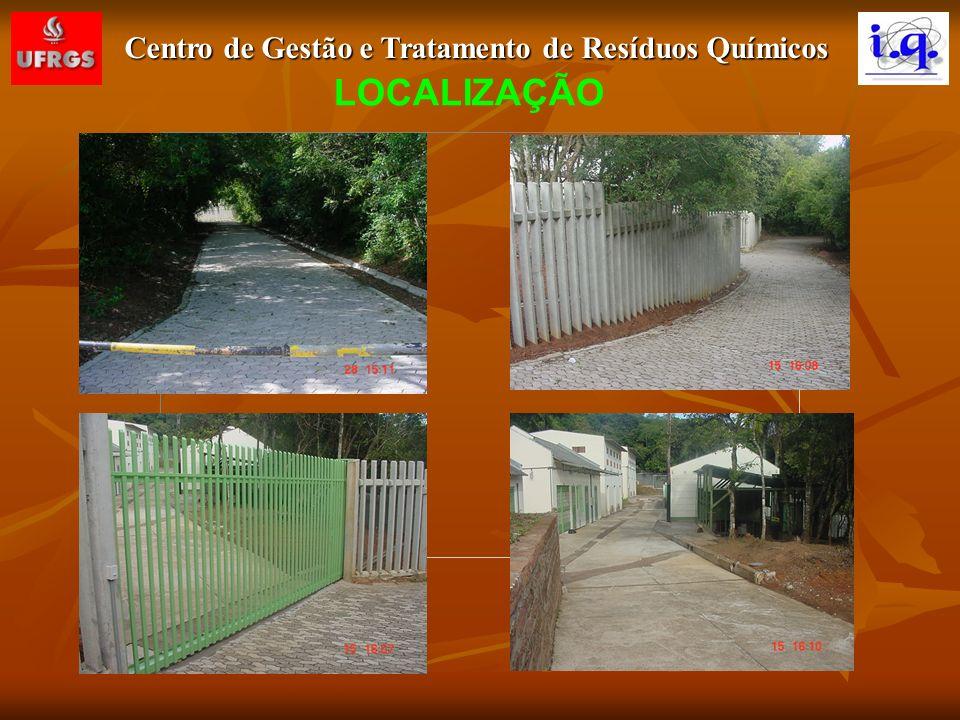 Centro de Gestão e Tratamento de Resíduos Químicos INFRA-ESTRUTURA Área Total = 2.019 m 2 Área Construída = 439 m 2