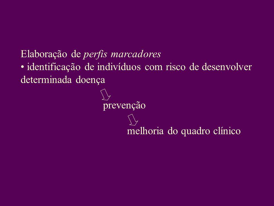 Elaboração de perfis marcadores identificação de indivíduos com risco de desenvolver determinada doença prevenção melhoria do quadro clínico