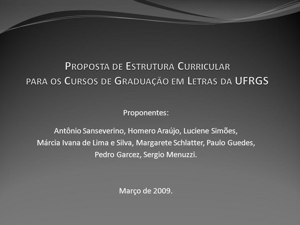 Proponentes: Antônio Sanseverino, Homero Araújo, Luciene Simões, Márcia Ivana de Lima e Silva, Margarete Schlatter, Paulo Guedes, Pedro Garcez, Sergio