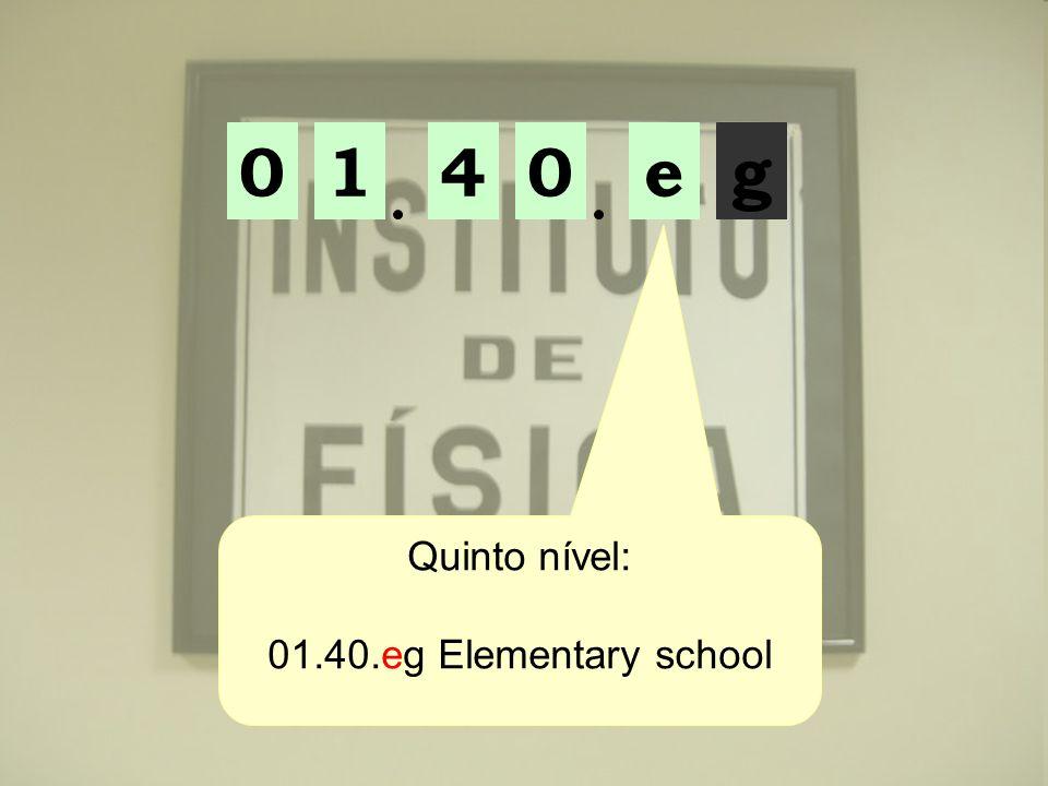 01ge04 Quinto nível: 01.40.eg Elementary school