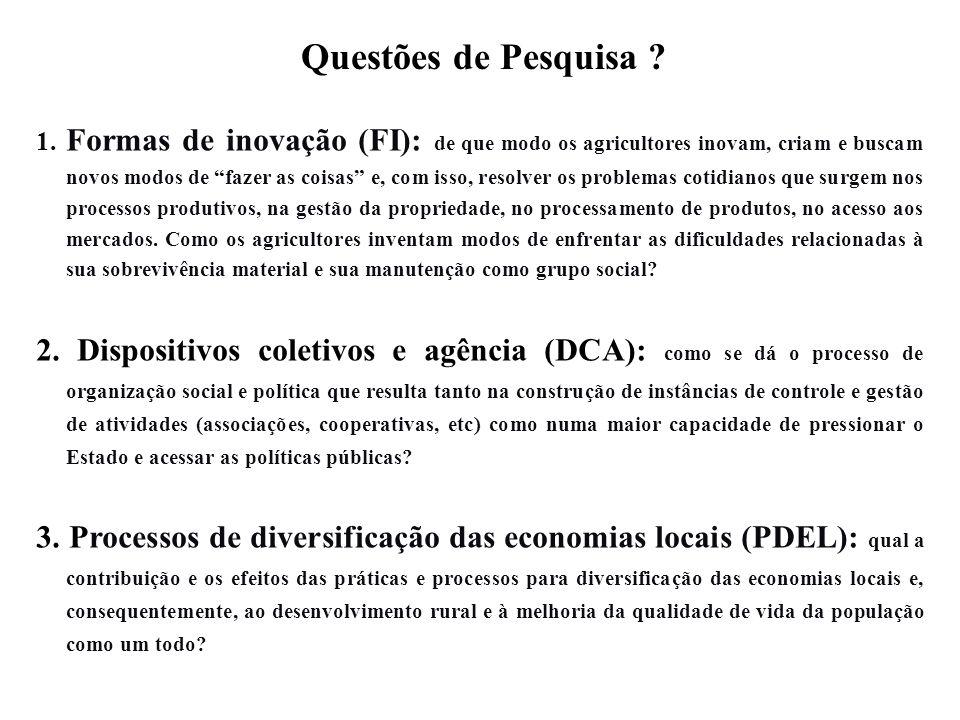 1. Formas de inovação (FI): de que modo os agricultores inovam, criam e buscam novos modos de fazer as coisas e, com isso, resolver os problemas cotid
