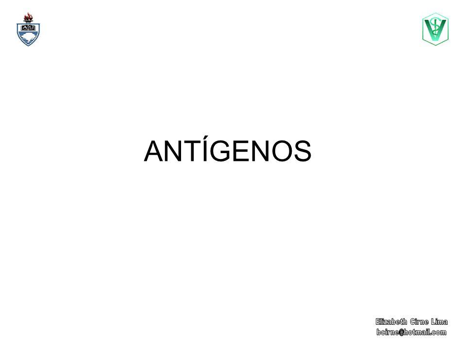 ANTÍGENO ANTÍGENO: é toda a estrutura molecular, que interage com um anticorpo.