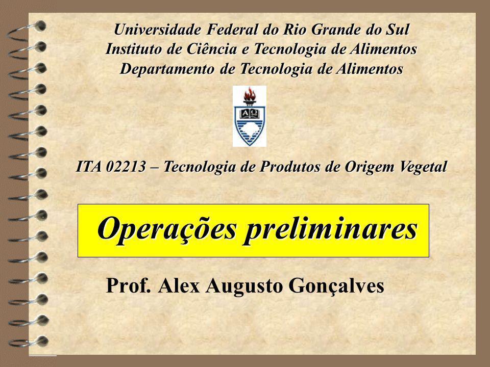 Operações preliminares Prof.