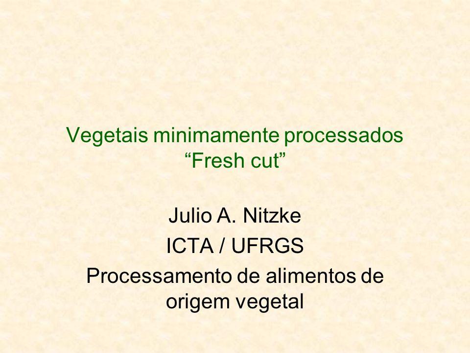 Vegetais minimamente processados Fresh cut Julio A. Nitzke ICTA / UFRGS Processamento de alimentos de origem vegetal