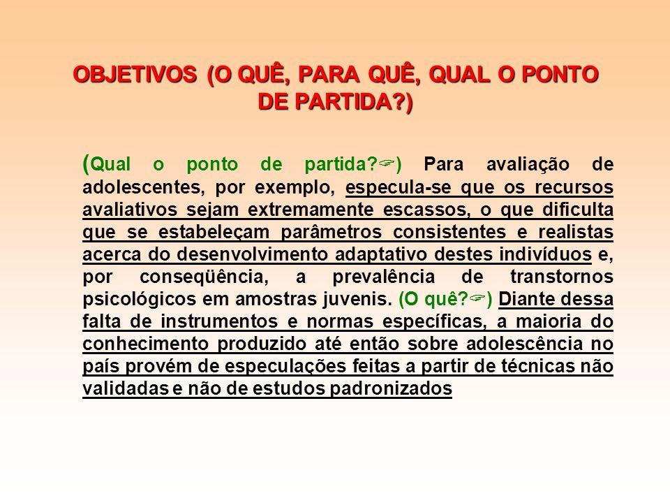 OBJETIVOS (O QUÊ, PARA QUÊ, QUAL O PONTO DE PARTIDA?) OBJETIVOS (O QUÊ, PARA QUÊ, QUAL O PONTO DE PARTIDA?) Apesar dos atuais esforços do Conselho Fed