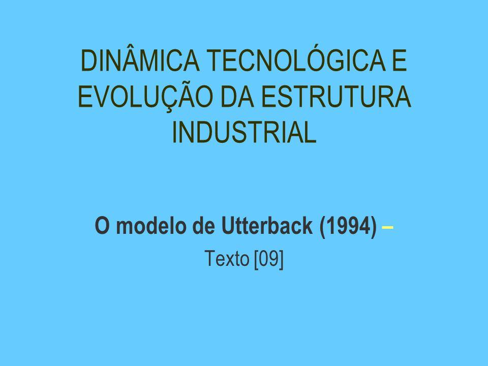DINÂMICA TECNOLÓGICA E EVOLUÇÃO DA ESTRUTURA INDUSTRIAL O modelo de Utterback (1994) – Texto [09]