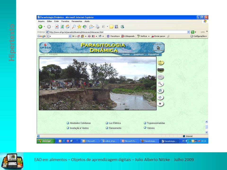 EAD em alimentos – Objetos de aprendizagem digitais – Julio Alberto Nitzke - Julho 2009 Vídeos