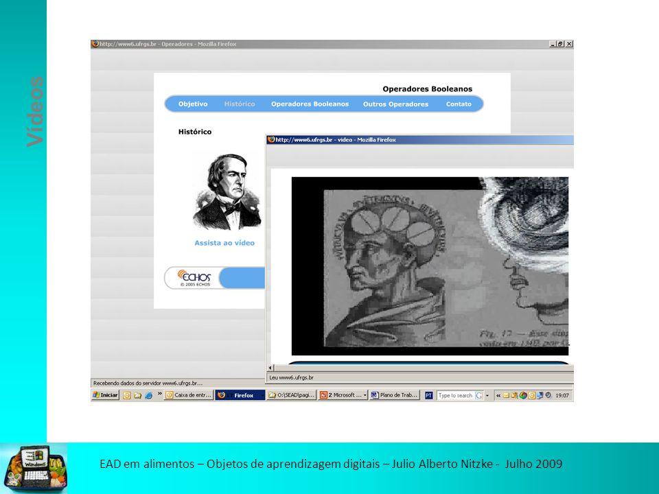 EAD em alimentos – Objetos de aprendizagem digitais – Julio Alberto Nitzke - Julho 2009 https://grupos.ufrgs.br
