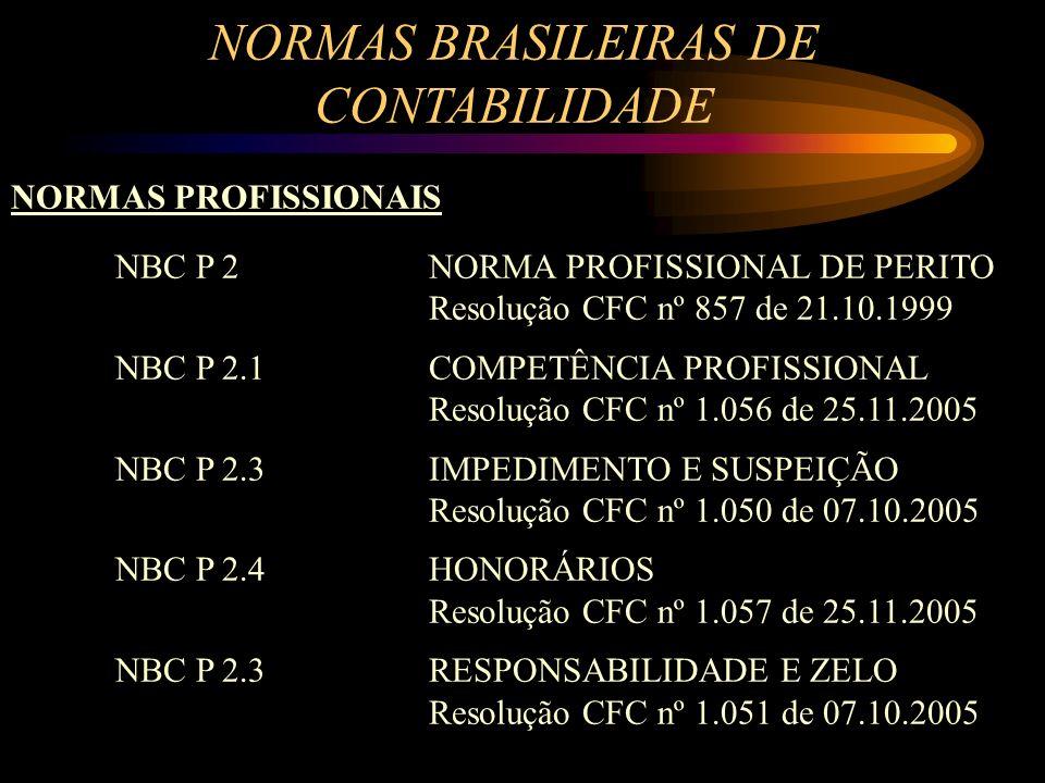 NORMAS BRASILEIRAS DE CONTABILIDADE NORMAS PROFISSIONAIS NBC P 2NORMA PROFISSIONAL DE PERITO Resolução CFC nº 857 de 21.10.1999 NBC P 2.1COMPETÊNCIA P