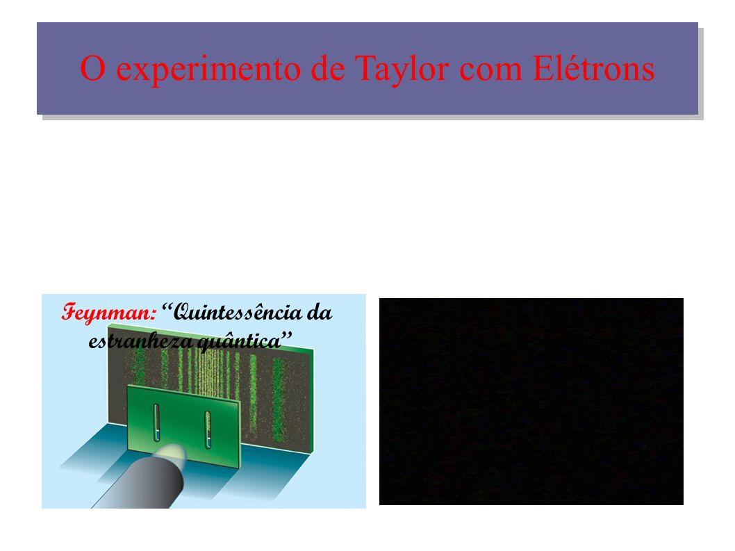 O experimento de Taylor com Elétrons Feynman: Quintessência da estranheza quântica