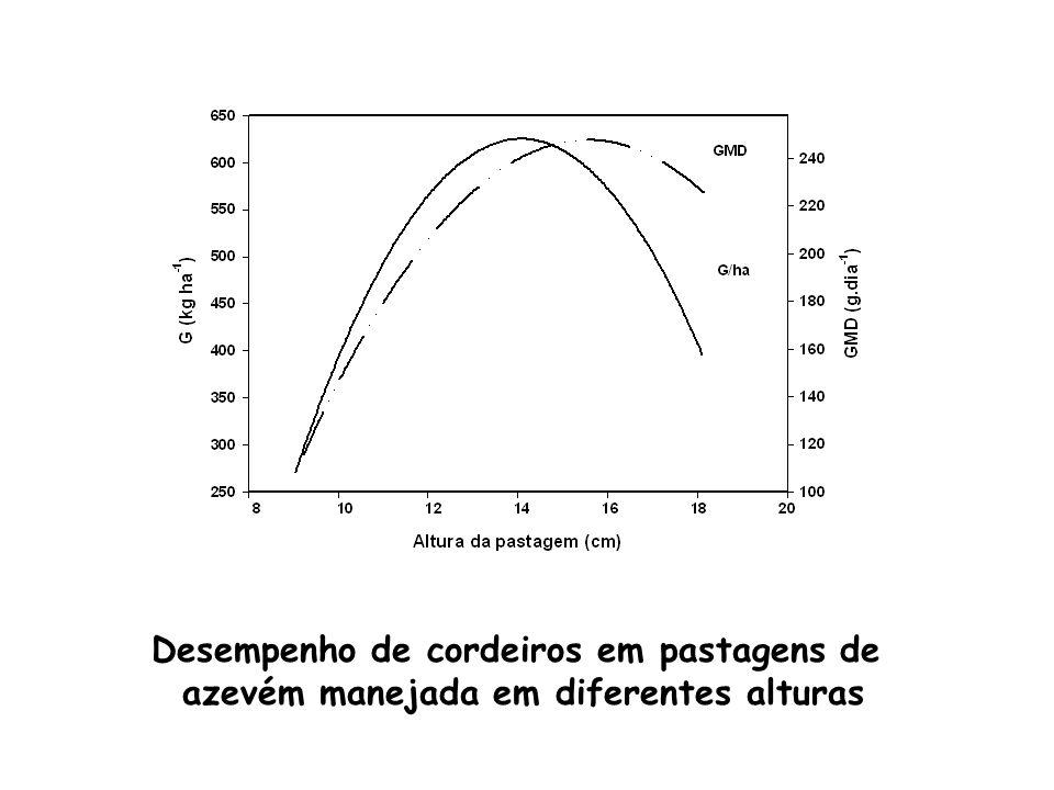 Desempenho de cordeiros em pastagens de azevém manejada em diferentes alturas