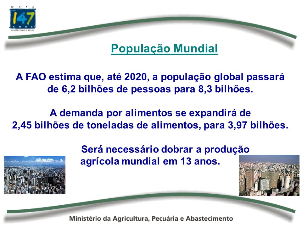 A Urbanização das Populações A urbanização traz significativas mudanças nos hábitos alimentares, sobretudo nos países em desenvolvimento