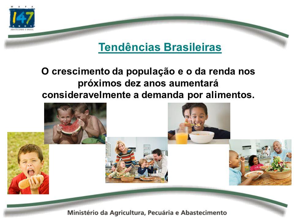 Aumento do Consumo Interno Urbanização + Aumento da Renda per capta Diminuição do Consumo de Alimentos Tradicionais Arroz Feijão Pão, etc.