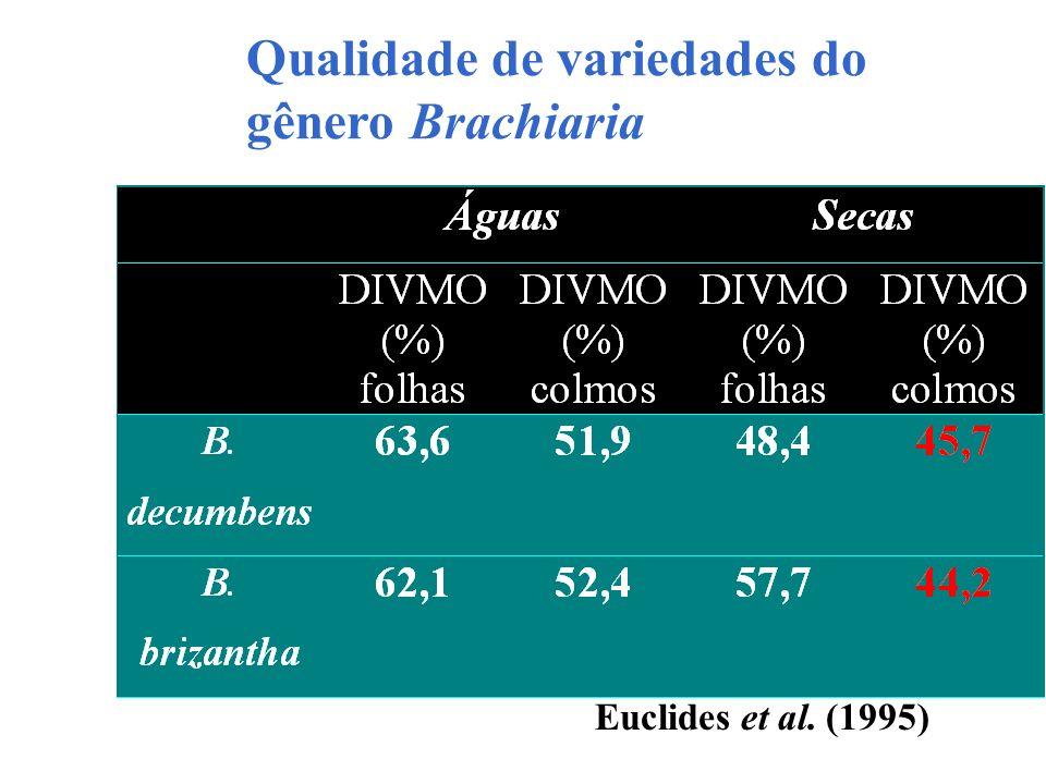 Qualidade de variedades do gênero Brachiaria Euclides et al. (1995)