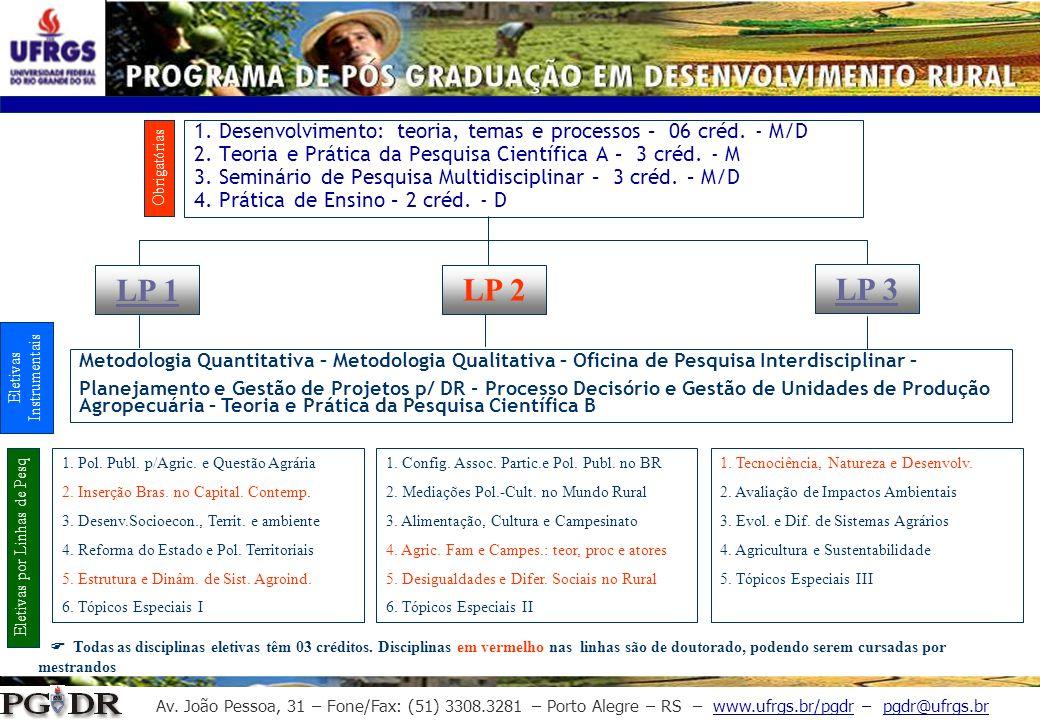 Av. João Pessoa, 31 – Fone/Fax: (51) 3308.3281 – Porto Alegre – RS – www.ufrgs.br/pgdr – pgdr@ufrgs.br 1. Desenvolvimento: teoria, temas e processos –