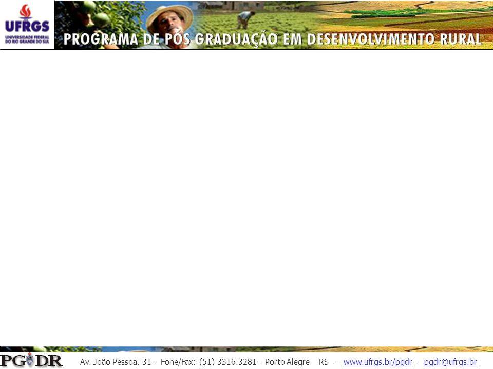 Av. João Pessoa, 31 – Fone/Fax: (51) 3316.3281 – Porto Alegre – RS – www.ufrgs.br/pgdr – pgdr@ufrgs.br