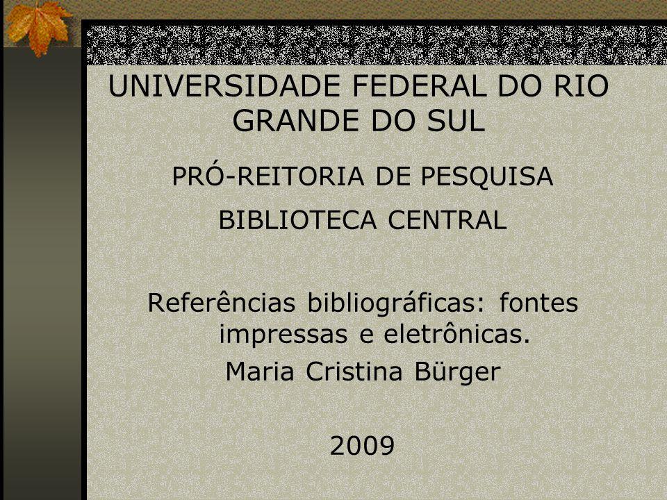 DEFINIÇÕES De acordo com a Associação Brasileira de Normas Técnicas - ABNT - (2002, p.2) aplicam-se as seguintes definições: Referência: Conjunto padronizado de elementos descritivos, retirados de um documento, que permite sua identificação individual.