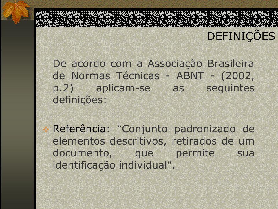ELEMENTOS BÁSICOS PARA REFERÊNCIAS DE DOCUMENTOS ELETRÔNICOS DUMAS FILHO, A.