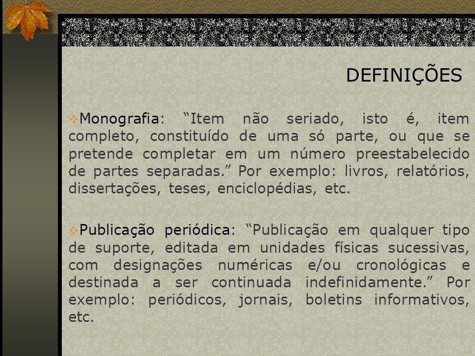 Elementos essenciais: São as informações indispensáveis à identificação do documento.