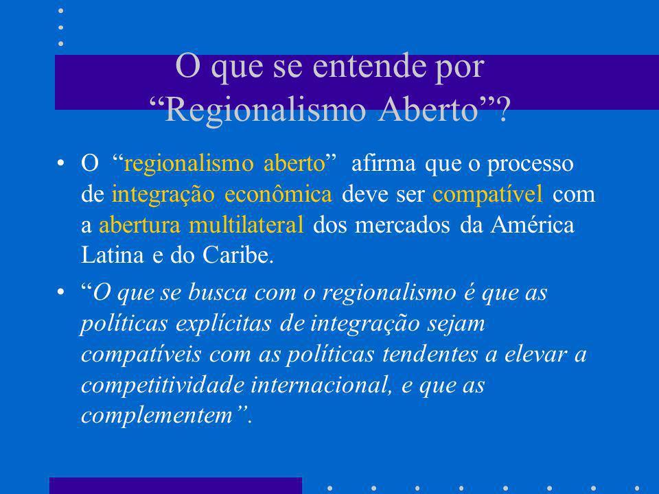 Principais proposições da estratégia de desenvolvimento baseada no conceito de regionalismo aberto 1) A transformação produtiva com equidade deve ser alcançada no contexto de uma maior competitividade internacional.