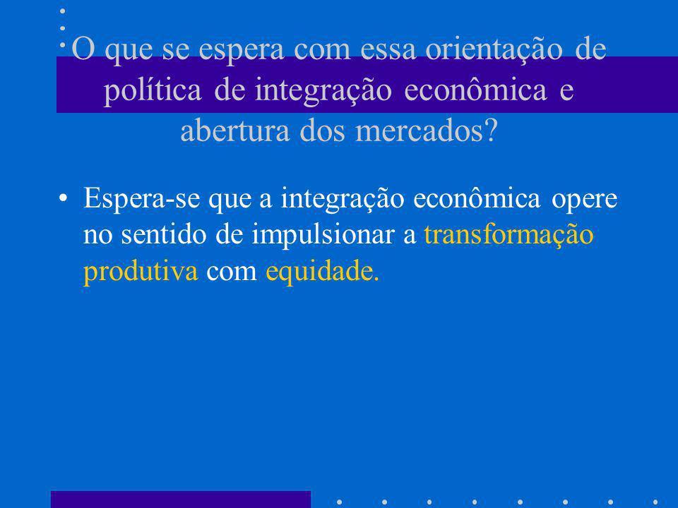 Com a liberalização ampla dos mercados, em termos de setores e países, espera-se: - reduzir os custos de transação (que seriam inibidores dos investimentos); - reduzir os custos econômicos da polarização das inversões; - reduzir os custos econômicos associados a incertezas geradas como resultado de compromissos contraditórios em nível das políticas econômicas nacionais;