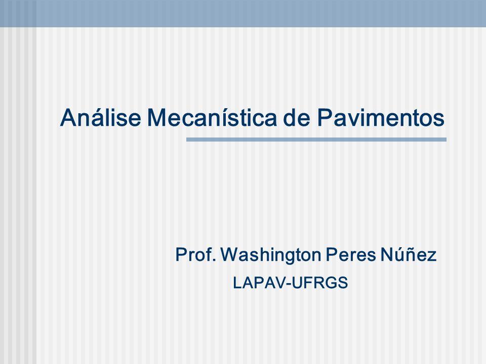 Análise Mecanística de Pavimentos Prof. Washington Peres Núñez LAPAV-UFRGS