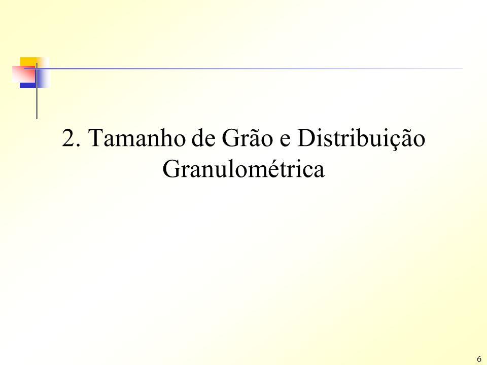 6 2. Tamanho de Grão e Distribuição Granulométrica