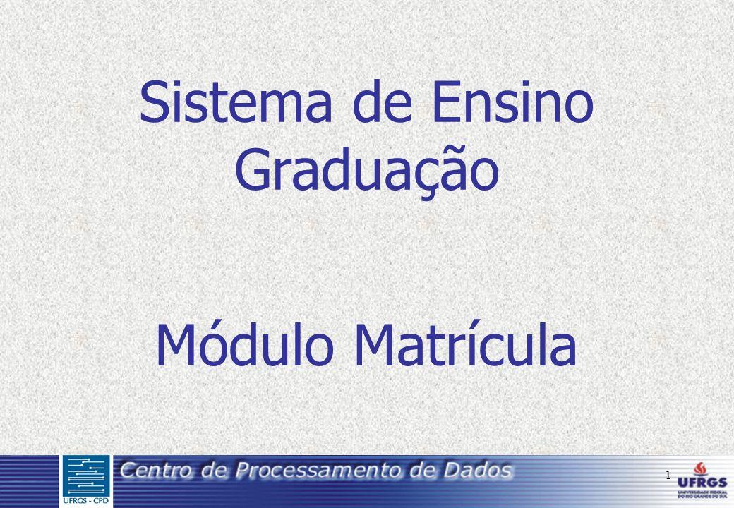 1 Sistema de Ensino Graduação Módulo Matrícula