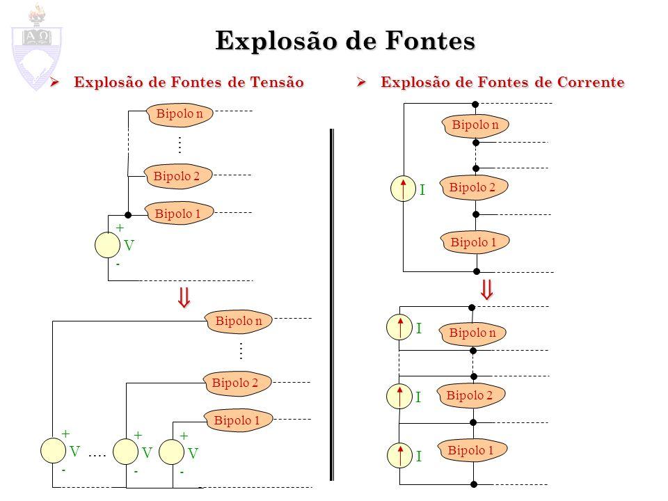 Explosão de Fontes Explosão de Fontes de Tensão Explosão de Fontes de Tensão Explosão de Fontes de Corrente Explosão de Fontes de Corrente Bipolo 2 Bi