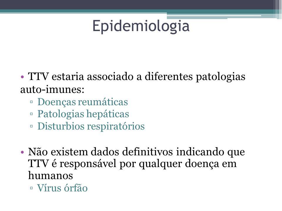 Epidemiologia TTV estaria associado a diferentes patologias auto-imunes: Doenças reumáticas Patologias hepáticas Disturbios respiratórios Não existem