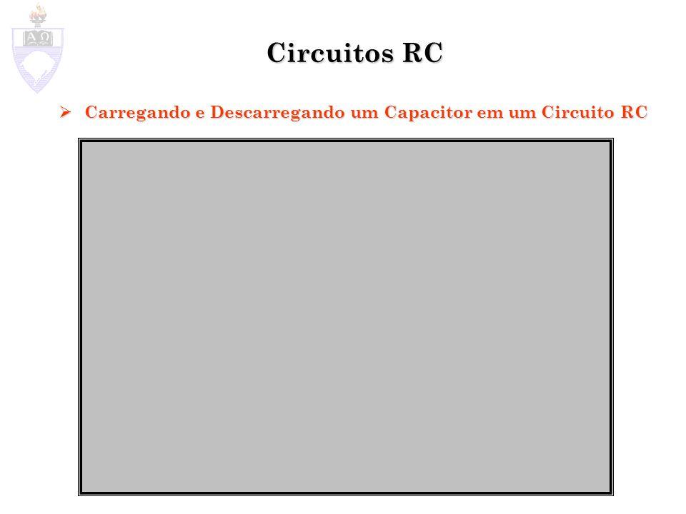 Circuitos RC Carregando e Descarregando um Capacitor em um Circuito RC Carregando e Descarregando um Capacitor em um Circuito RC