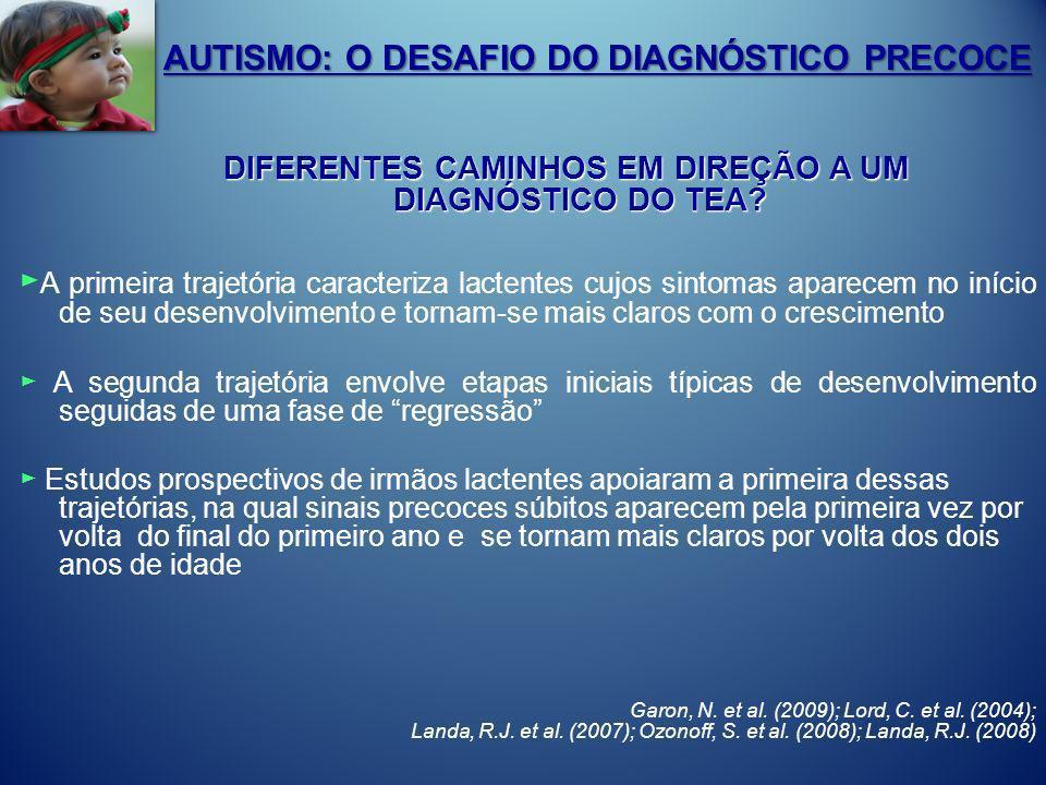 AUTISMO: O DESAFIO DO DIAGNÓSTICO PRECOCE DIFERENTES CAMINHOS EM DIREÇÃO A UM DIAGNÓSTICO DO TEA? DIFERENTES CAMINHOS EM DIREÇÃO A UM DIAGNÓSTICO DO T