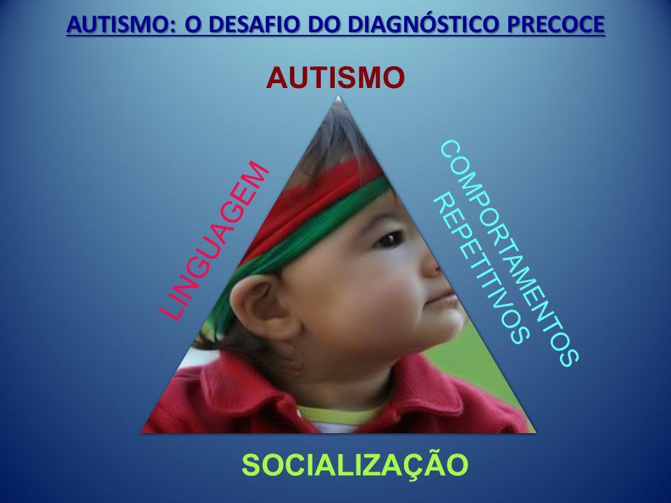 AUTISMO: O DESAFIO DO DIAGNÓSTICO PRECOCE AUTISMO LINGUAGEM COMPORTAMENTOS REPETITIVOS SOCIALIZAÇÃO