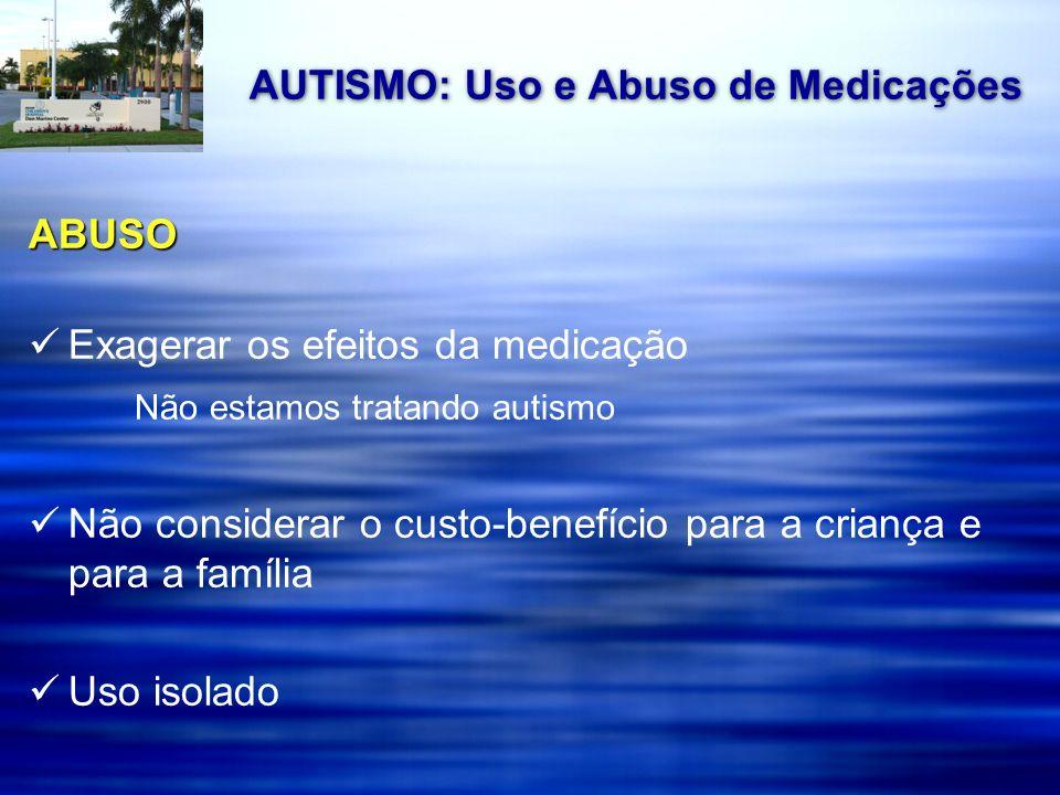 Estudos Controlados de SSRIs em TEA Medicação Amostra Design Resultados Efeitos Colaterais Fluoxetina 1 45 crianças plac-cont comp.