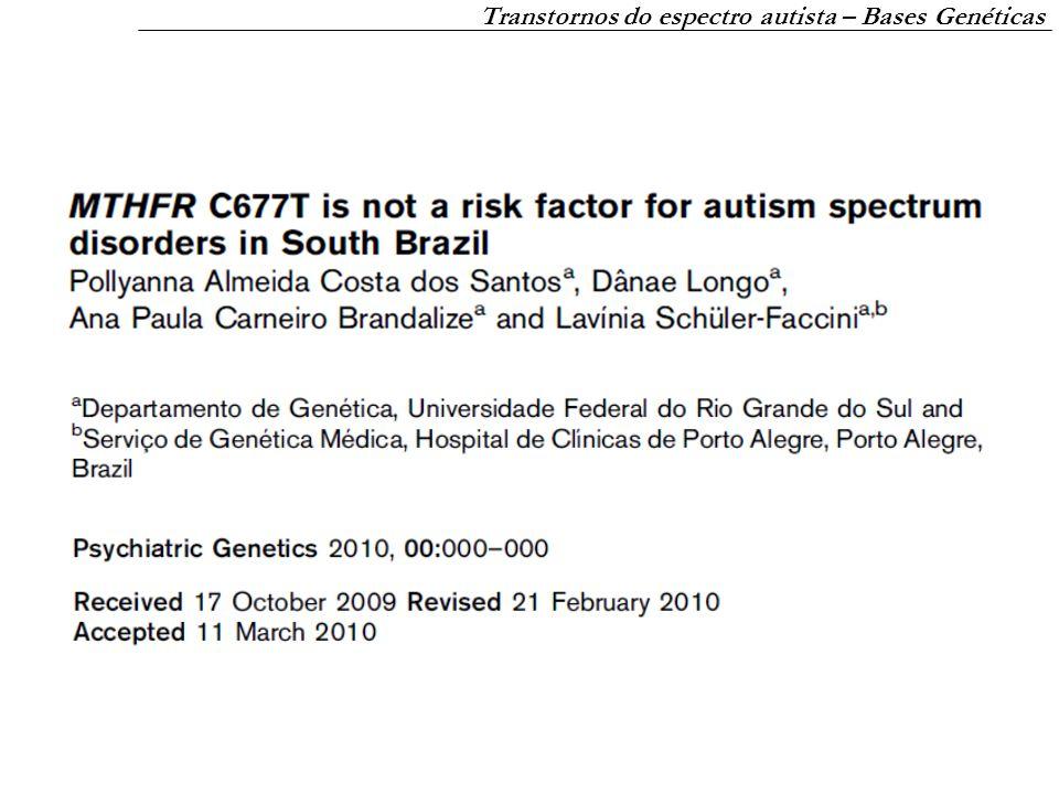 Transtornos do espectro autista – Bases Genéticas