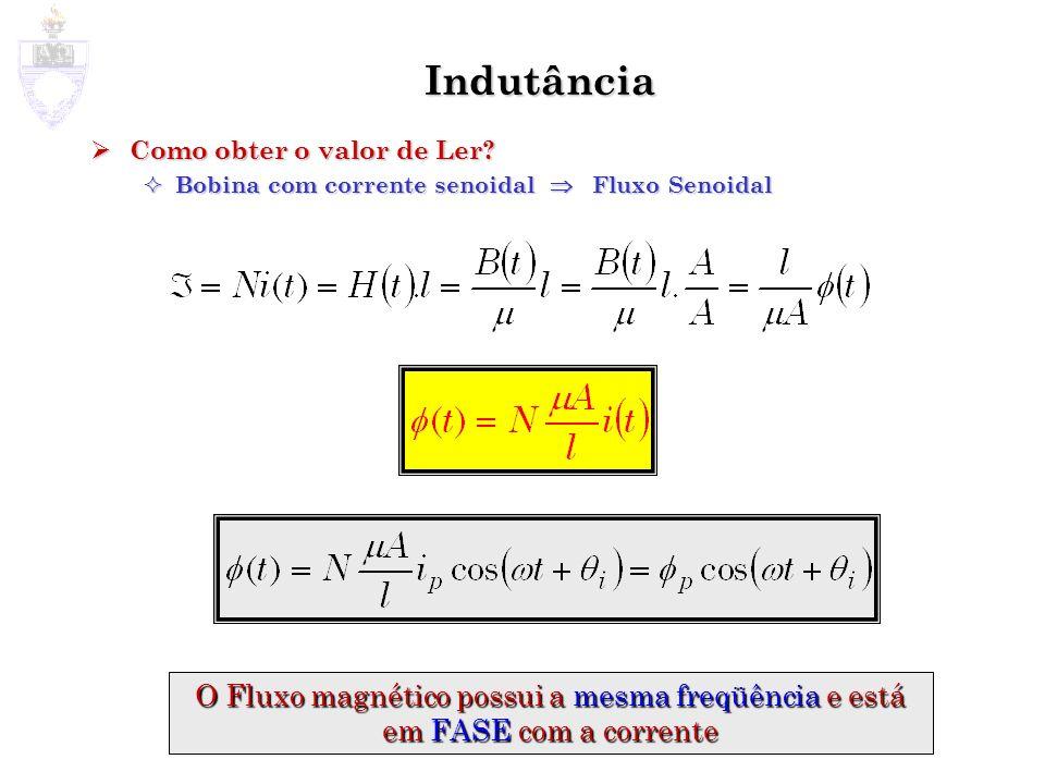 Tensão Induzida/Indutância Qual a Tensão v (t) que aparecerá nos terminais da Bobina se i (t)= i p cos( t+ i ).