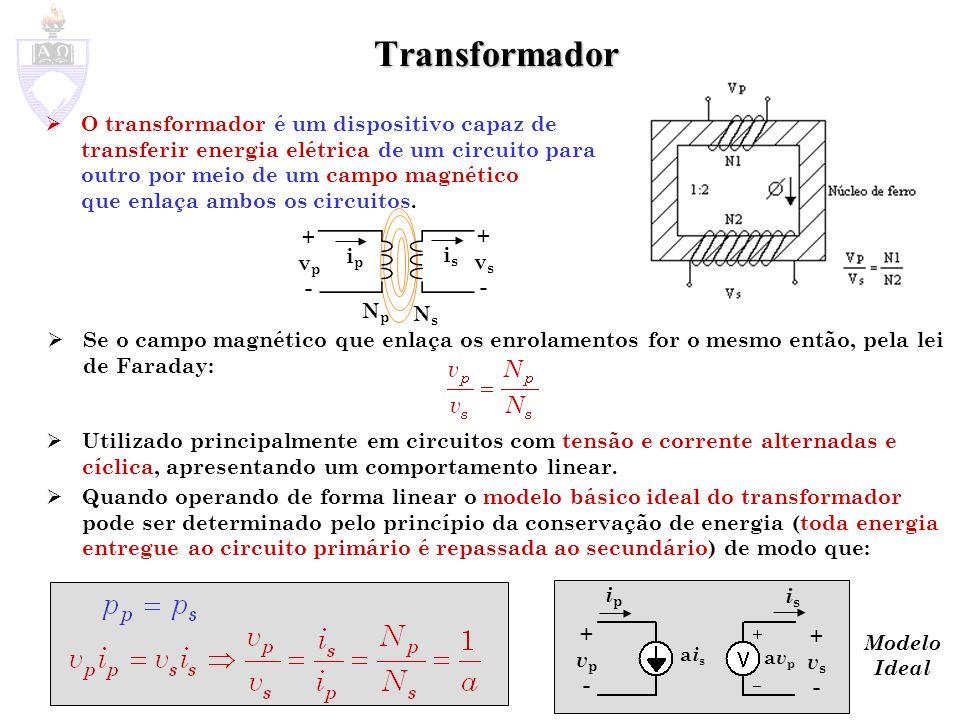 O transformador é um dispositivo capaz de transferir energia elétrica de um circuito para outro por meio de um campo magnético que enlaça ambos os cir