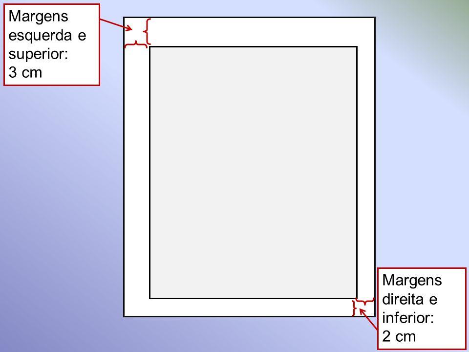 Enumeração das divisões do trabalho, na mesma ordem e grafia em que aparecem no documento SUMÁRIO Paginação: nº da primeira página OU nº das páginas inicial e final.
