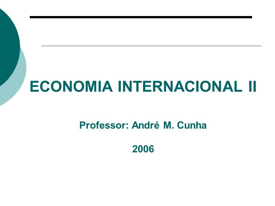 ECONOMIA INTERNACIONAL II Professor: André M. Cunha 2006