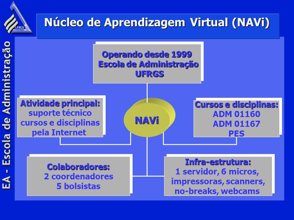 Núcleo de Aprendizagem Virtual (NAVi) NAVi Operando desde 1999 Escola de Administração Escola de Administração UFRGS UFRGS Operando desde 1999 Escola