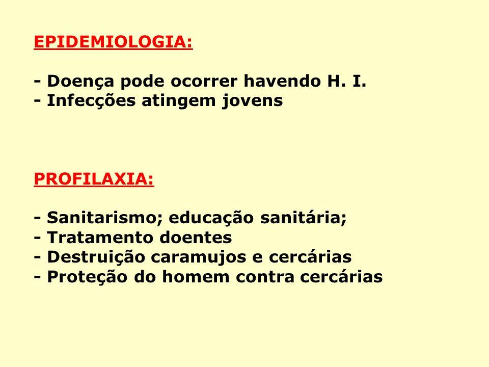 EPIDEMIOLOGIA: - Doença pode ocorrer havendo H.I.