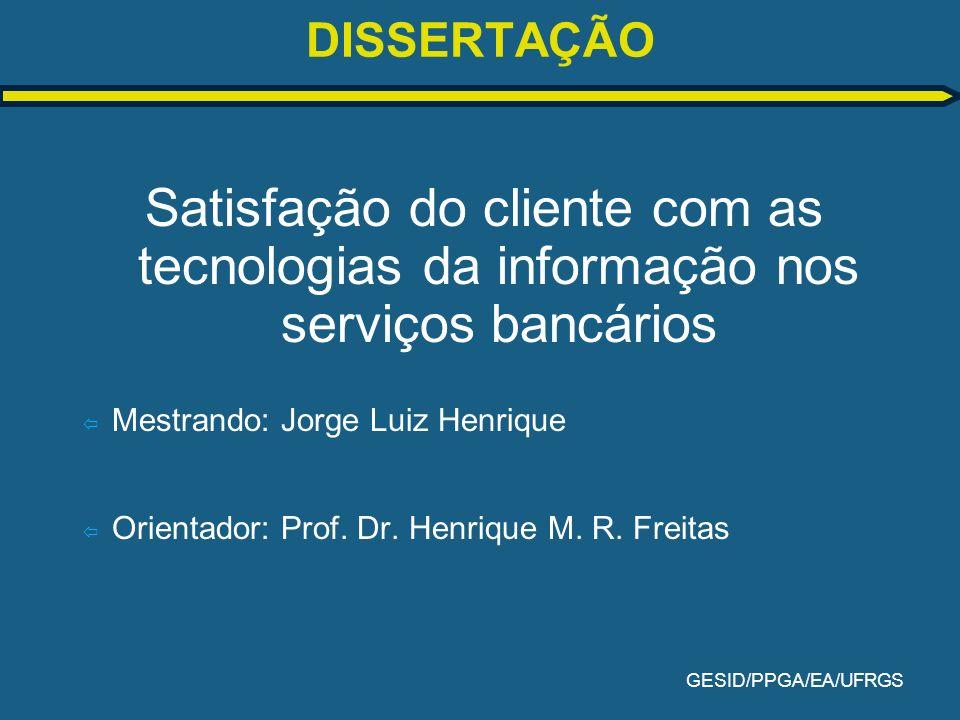 GESID/PPGA/EA/UFRGS MÉTODO DA PESQUISA (Rossi & Slongo, 1998).