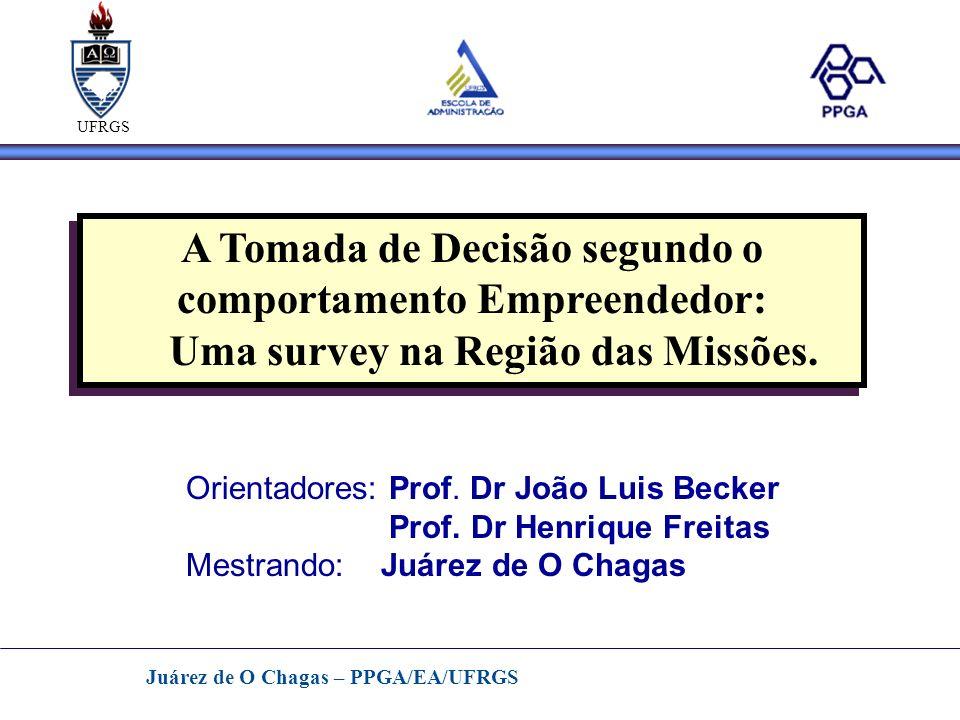 Juárez de O Chagas – PPGA/EA/UFRGS Agenda - TemaTema - JustificativaJustificativa - ObjetivosObjetivos - MétodoMétodo - Benefícios dos Resultados PotenciaisBenefícios dos Resultados Potenciais - Cronograma das AtividadesCronograma das Atividades