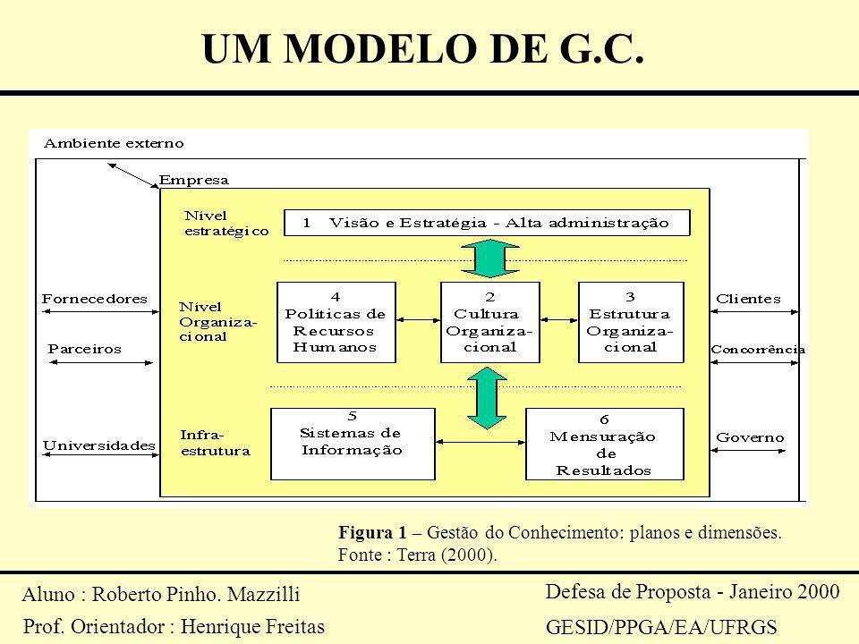 Aluno : Roberto Pinho. Mazzilli Prof. Orientador : Henrique Freitas Defesa de Proposta - Janeiro 2000 GESID/PPGA/EA/UFRGS UM MODELO DE G.C. Figura 1 –