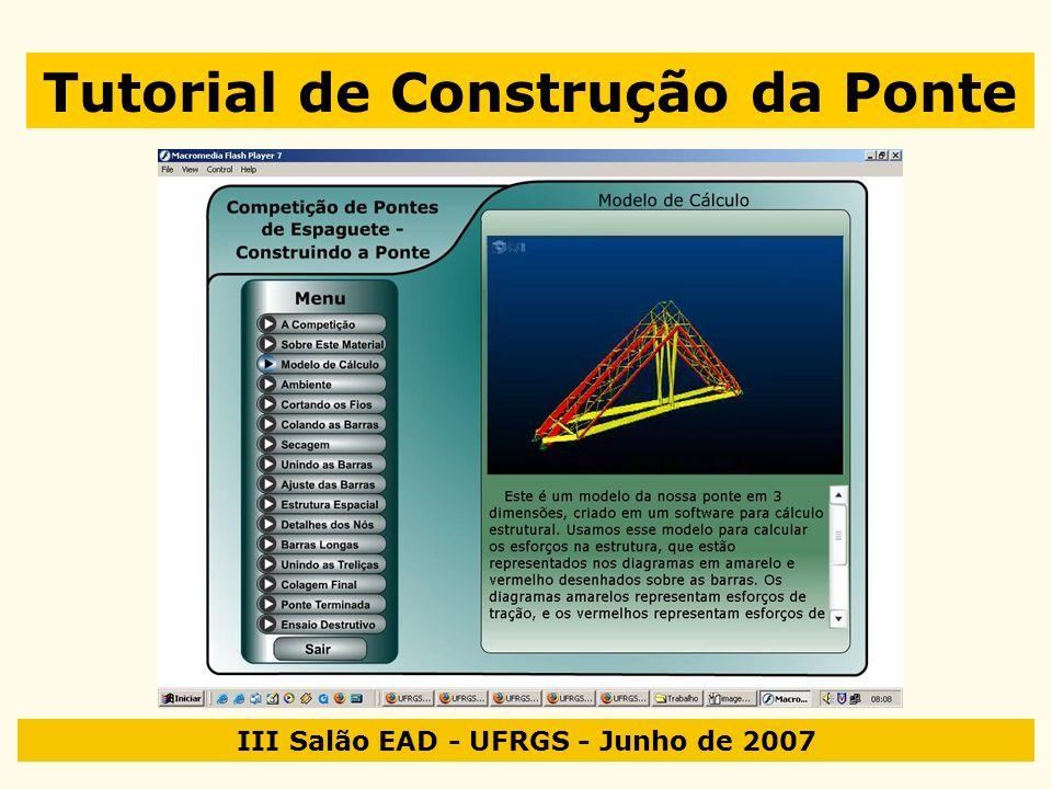III Salão EAD - UFRGS - Junho de 2007 Tutorial de Construção da Ponte