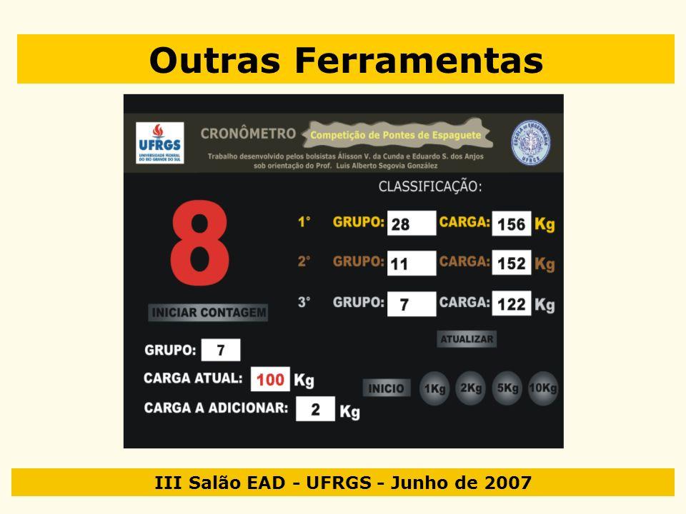 III Salão EAD - UFRGS - Junho de 2007 Outras Ferramentas