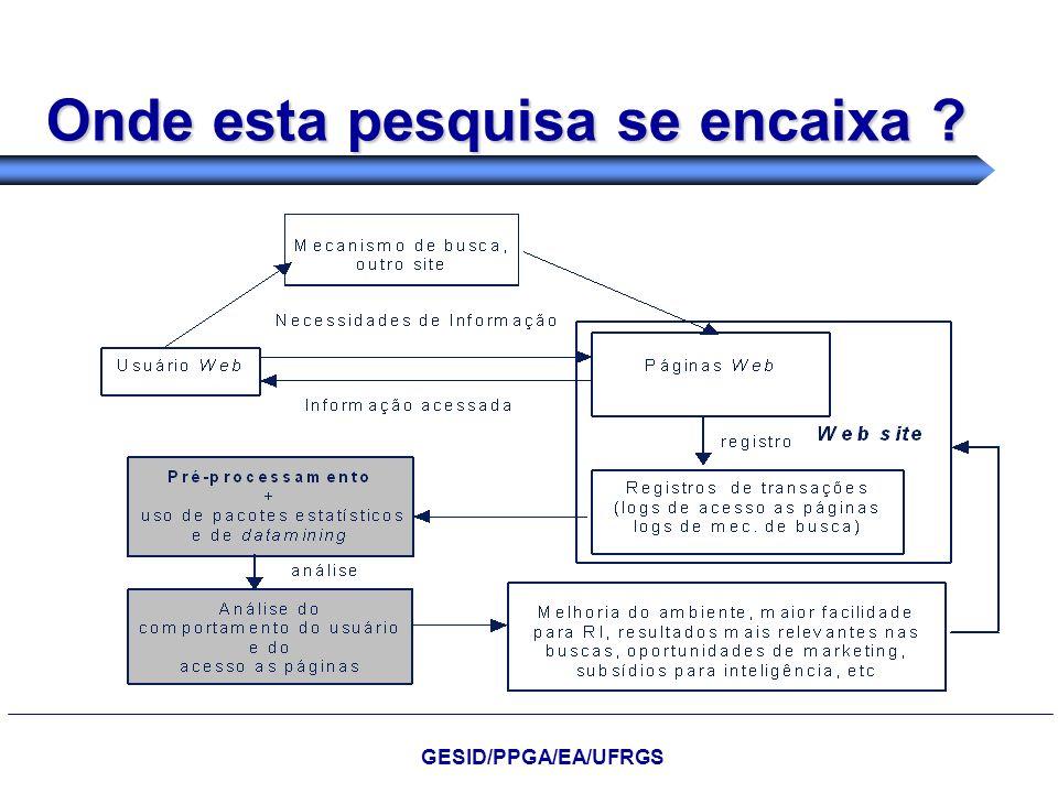 Onde esta pesquisa se encaixa ? GESID/PPGA/EA/UFRGS