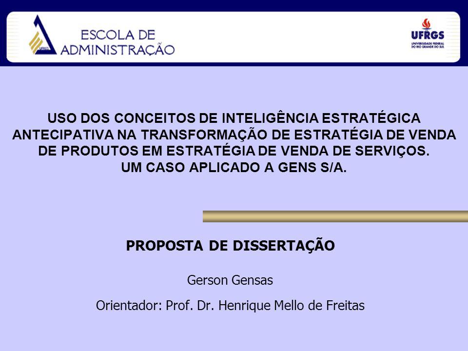 Aluno: Gerson Gensas Orientador: Prof.Dr.